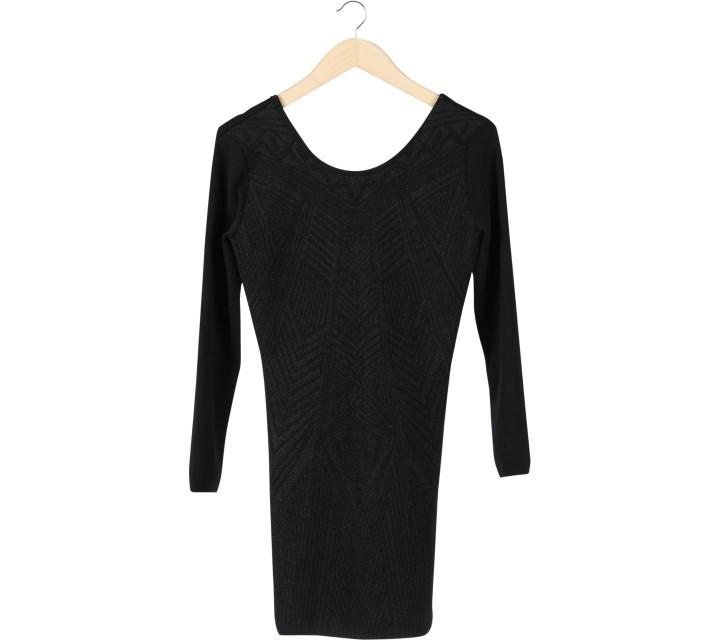 H&M Black Glittery Bodycon Mini Dress