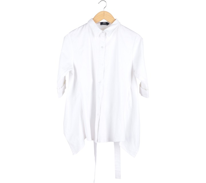 Label Eight White Asymetric Shirt