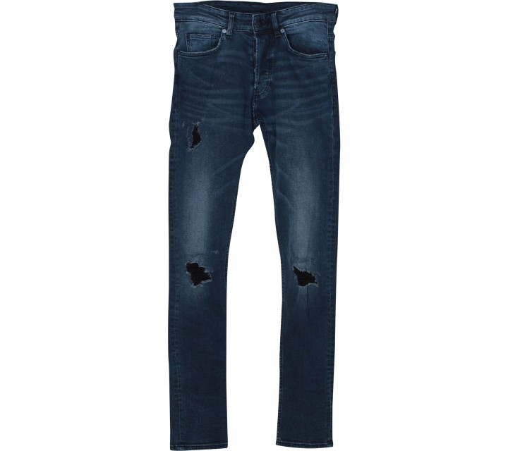 Divided Dark Blue Ripped Pants