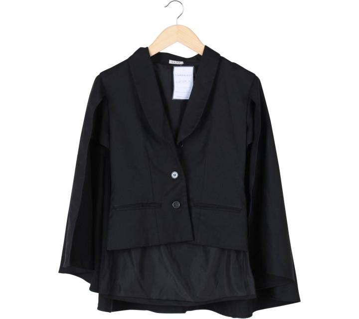 I.K.Y.K Black Cape Blazer