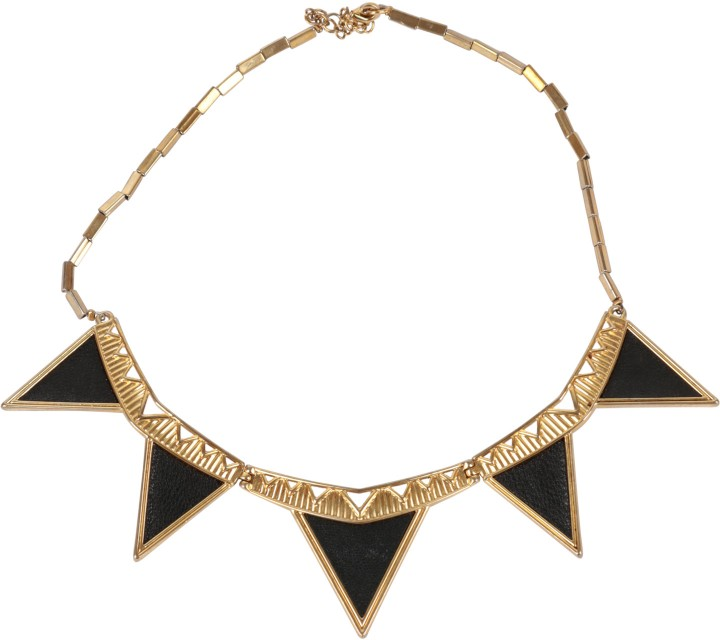 House of Harlow Black And Gold Triangle Jewellery