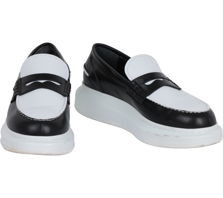 Alexander McQueen Black And White Sneakers