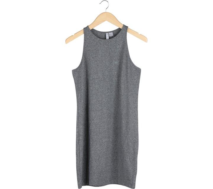 Divided Grey Sleeveless Mini Dress