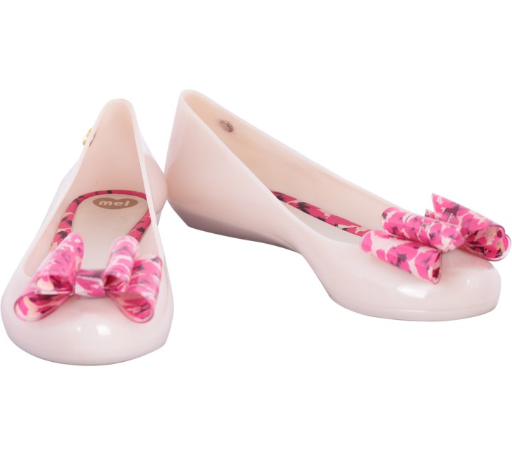 Melissa Grey And Pink Flats