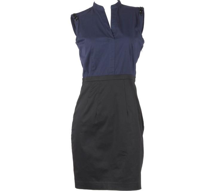 H&M Dark Blue And Black Sleeveless Mini Dress