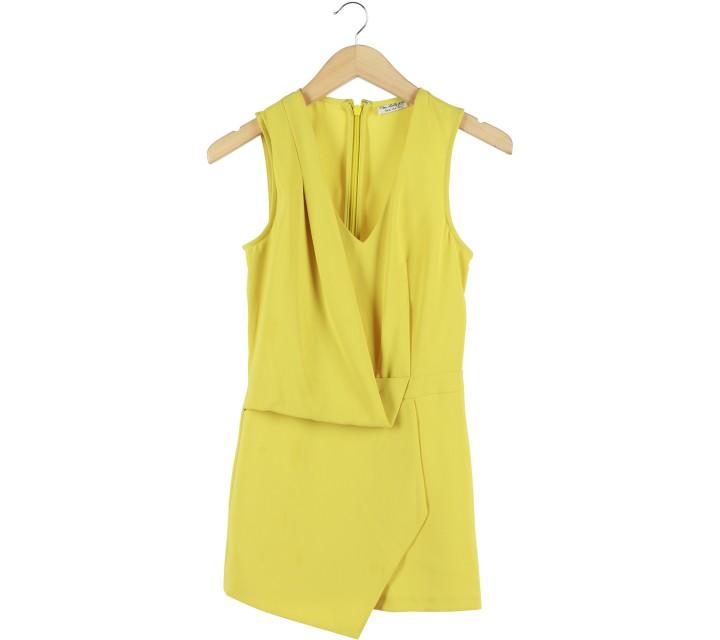 Miss Selfridge Lime Sleeveless Jumpsuit