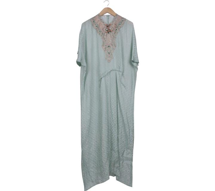 Febianihermaini Green Beaded Long Dress