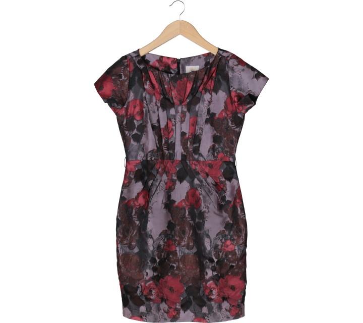 Ciel Multi Colour Floral Pleated Midi Dress