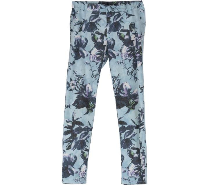 Blue Floral Pants