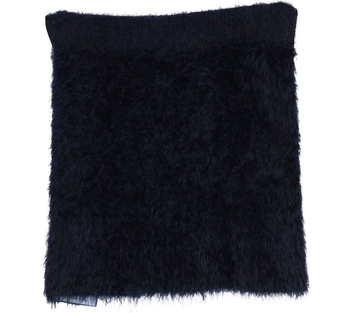 Dark Blue Fur Skirt