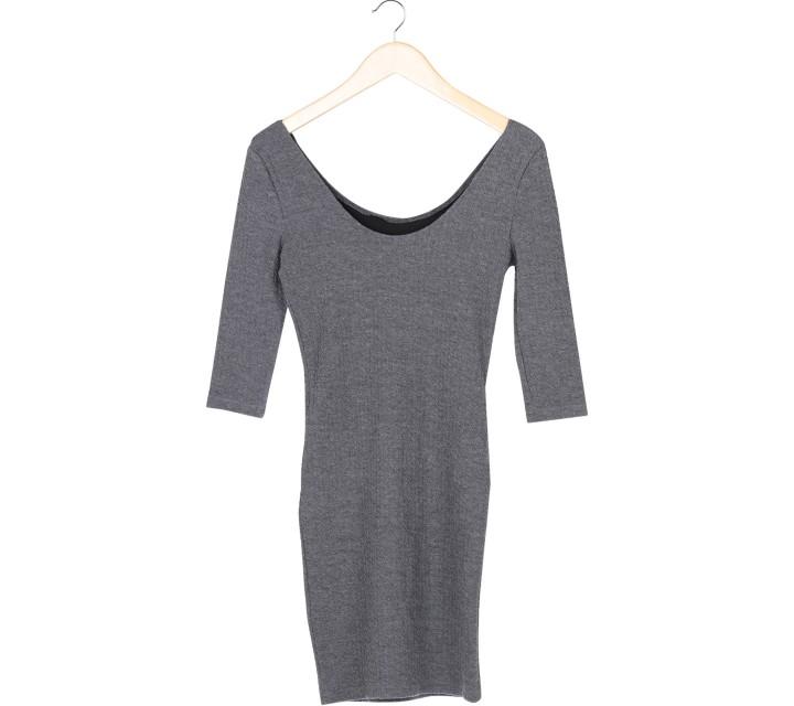 New Look Grey Low Back Mini Dress