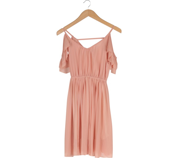Peach Off Shoulder  Mini Dress