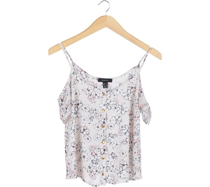 Atmosphere Cream Floral Off Shoulder  Blouse