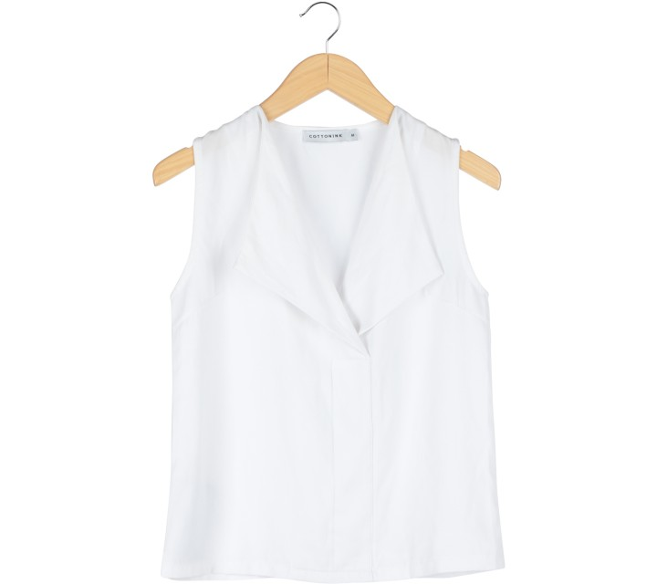 Cotton Ink White Sleeveless
