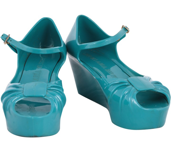 Moschino Blue Open Toe Wedges