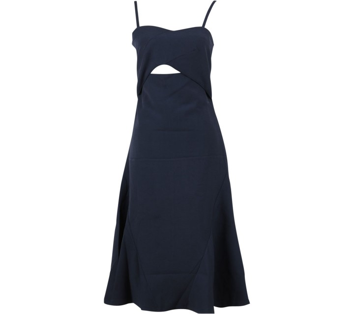 The Editor´s Market Dark Blue Cut Out Midi Dress