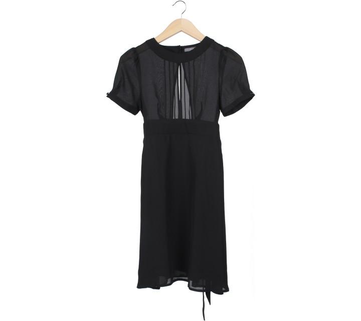 Forever 21 Black Back Cut Out Mini Dress