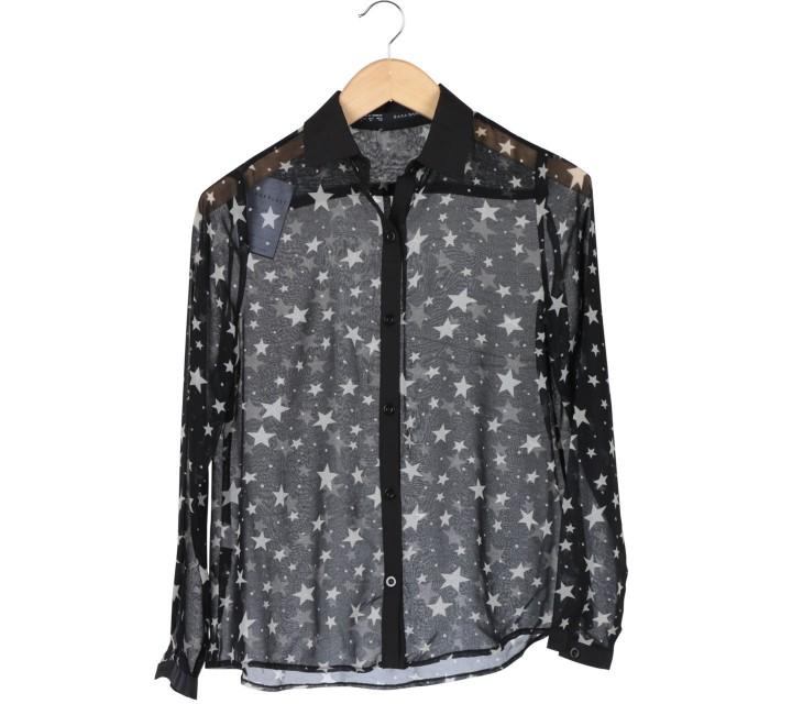 Zara Black And White Patterned Shirt