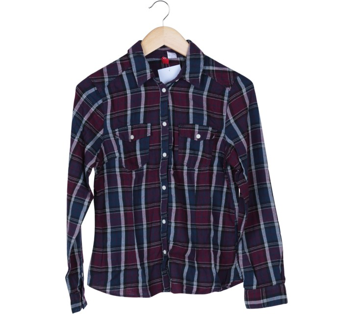 Divided Purple Tartan Shirt