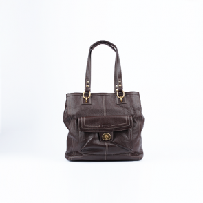 Coach Mahogani Brown Leather Hand Bag