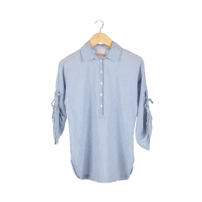 Blue Striped Rope Sleeve Shirt