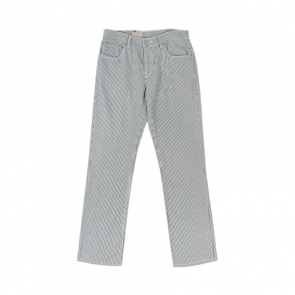 White Striped Western Pants