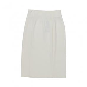 White Straight Midi Skirt