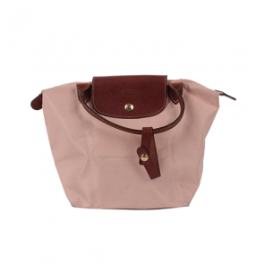 Longchamp Pink Peach Le Pliage Small Satchel