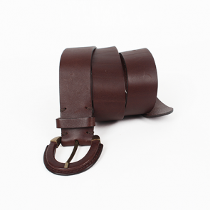 Hobbs Brown Leather Belt