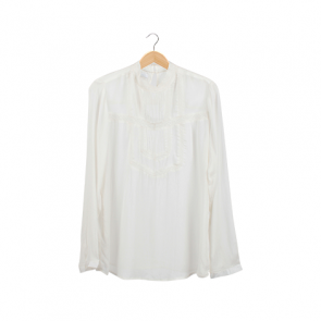 White Sheer Victorian Blouse