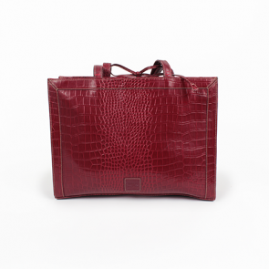 Liz Claiborne Red Alligator Leather Shoulder Bag