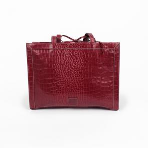 Liz Claiborne Red Alligator Leather Shoulder Bag