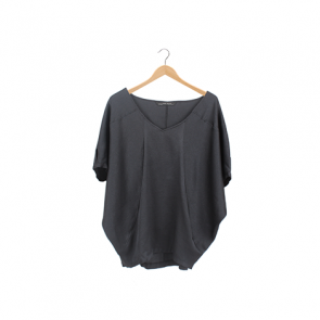Black Classic Batwing Blouse