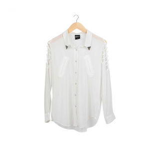 White Nets Sleeve Barrel Shirt