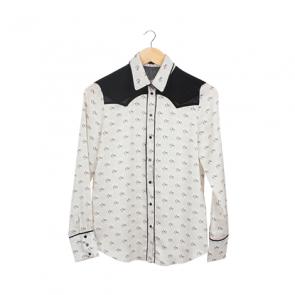 White Horse Pattern Long Sleeve Shirt
