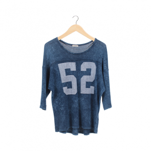 Blue Number Medium Sleeve T-Shirt