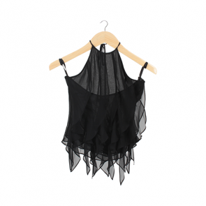 Black Silk Halter Top