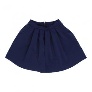 Blue Striped Bell Mini Skirt