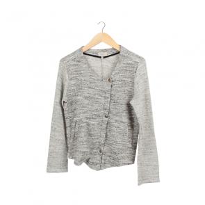 Grey Basic Front-Zip Jacket