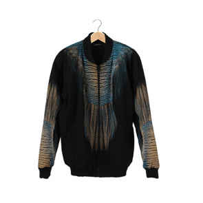 Black Fish Tail Prime Bomber Jacket