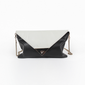 Forever 21 Black and White Faux Leather Sling Bag