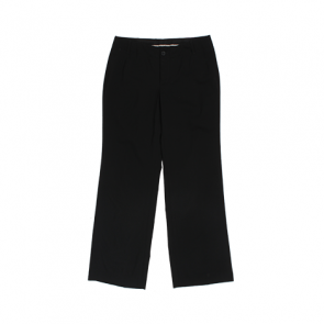 Black Boot-Cut Office Pants