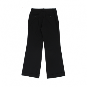 Black Plain Boot-Cut Pants