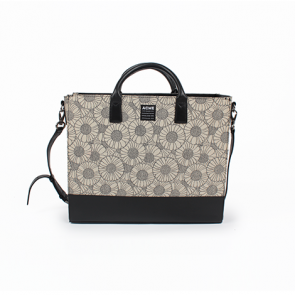 ACME Black and White Floral Messenger Bag