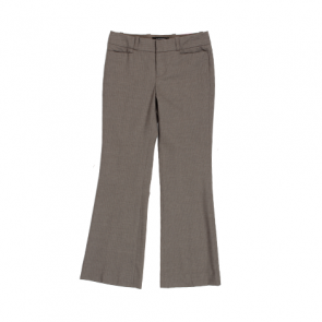 Light Brown Striped Straight Pants