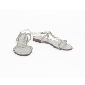 Stuart Weitzman Teezer Crystal Jelly Sandals