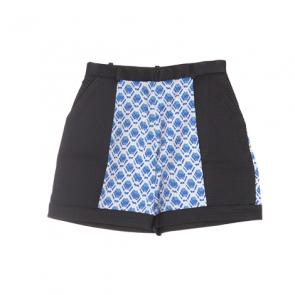 Black Multi Plaid Shorts