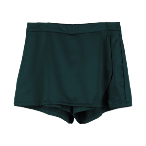 Green Wrapped Skort Pants