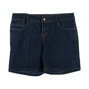 Blue Denim Basic Shorts