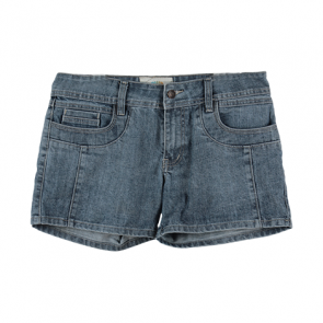 Blue Washed Denim Shorts